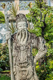 Kamienna chińska opiekun statua Wat Pho świątynny Bangkok Tajlandia Zdjęcia Stock