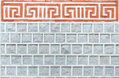 Kamienna ściana utrzymany antyczny Korea. Zdjęcia Royalty Free