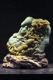 Kamienna cyzelowanie sztuka nadwodni zwierzęta i rośliny Obrazy Royalty Free