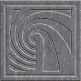 Kamienna cyzelowanie tekstura z geometrycznym wzorem ilustracja wektor