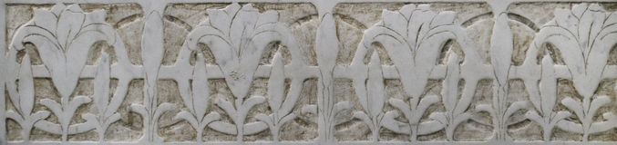 Kamienna dekoracja (Kwiecisty ornament) Zdjęcie Royalty Free