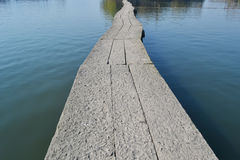 Kamienna droga w rzece Zdjęcia Stock