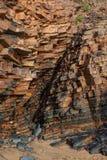 Kamienna góra, geological warstwy skały zdjęcia royalty free