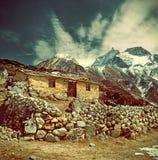 Kamienna kabina w górze, Nepal himalaje Fotografia Royalty Free