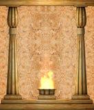kamienna kolumny ściana Zdjęcia Royalty Free