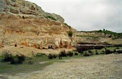 Kamienna kopalnia, Robben wyspa, południe - afrykańska republika obraz stock