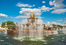 Kamienna kwiat fontanna Fotografia Stock