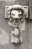 Kamienna lew głowa Fotografia Royalty Free