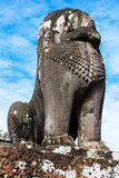 Kamienna lew rzeźba zdjęcie royalty free