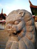 Kamienna lew rzeźba obraz royalty free