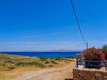 kamienna plaża w Greece zdjęcia stock