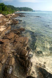 Kamienna plaża Fotografia Royalty Free