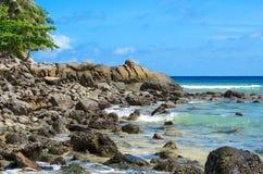 Kamienna plaża Zdjęcia Royalty Free