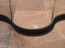 Kamienna podłoga z szklaną ścianą Obrazy Stock