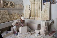 Kamienna praca w mardin, Turcja obrazy stock