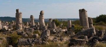 Kamienna pustynia blisko Varna, Bułgaria (Pobiti kamani) Zdjęcie Stock