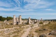 Kamienna pustynia blisko Varna, Bułgaria (Pobiti kamani) Zdjęcia Stock