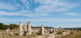 Kamienna pustynia blisko Varna, Bułgaria (Pobiti kamani) Obraz Royalty Free