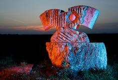 Kamienna rzeźba żelazna kurtyna Obrazy Stock