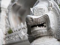 Kamienna rzeźba lew bramy opiekun świątynia Zdjęcia Royalty Free