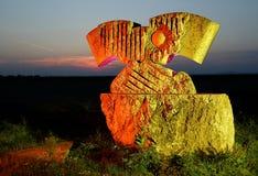 Kamienna rzeźba spadek żelazna kurtyna Obraz Royalty Free