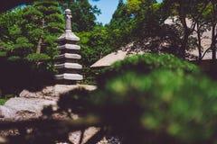 Kamienna rzeźba w japończyka ogródzie w Hamburg obraz royalty free