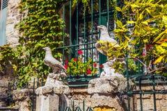 Kamienna rzeźba w terenie Montmartre Zdjęcia Royalty Free