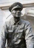 Kamienna statua Chińskich osob wyzwolenia wojsko Zdjęcia Stock