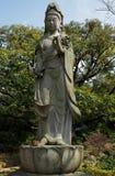 Kamienna statua Kannon Buddha Zdjęcie Royalty Free