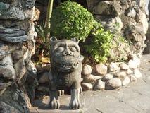 Kamienna statua na Wata Pho świątyni ziemiach w Bangkok, Tajlandia Zdjęcie Stock