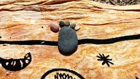 Kamienna stopa w plaży obrazy royalty free
