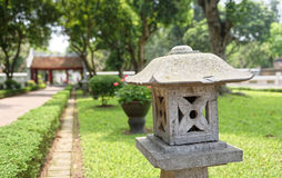 Kamienna struktura przy świątynią literatura w Hanoi Obraz Royalty Free