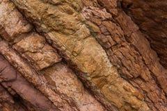 Kamienna tekstura czerwieni i brązu kolory fotografia royalty free