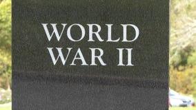 Kamienna trybuna dla żołnierzy które umierali w wojnie światowa 2 zbiory wideo