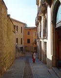 Kamienna ulica, Girona obrazy stock