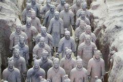 Kamienna wojsk soilders statua, Terakotowy wojsko w Xian, Chiny Fotografia Stock