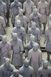 Kamienna wojsk soilders statua, Terakotowy wojsko w Xian, Chiny Zdjęcia Stock