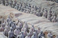 Kamienna wojsk soilders statua, Terakotowy wojsko w Xian, Chiny Zdjęcie Stock