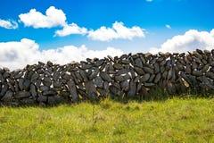 Kamienne ściany Irlandia w Aran wyspach zdjęcia stock