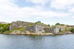Kamienne ściany Suomenlinna forteca w Helsinki, Finlandia Zdjęcia Stock