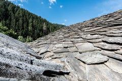 Kamienne dachowe płytki obraz stock
