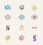 Kamienne ikony ustawiać Zdjęcia Stock