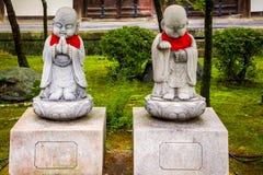 Kamienne michaelita statuy - Kyoto, Japonia Obrazy Stock