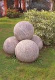 Kamienne piłki obrazy royalty free