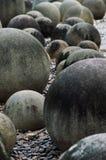 Kamienne sfery w Tajlandia kamienia ogródzie, fotografia stock