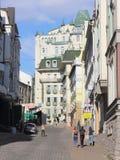 Kamienne ulicy stary miasteczko Zdjęcia Royalty Free