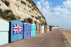 Kamienne zatoki plaży budy Fotografia Royalty Free