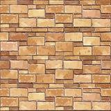 Kamiennego ściana z cegieł bezszwowy tło. Obraz Royalty Free