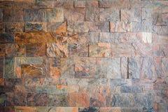 Kamiennego ściana z cegieł bezszwowy tło - tekstura wzór dla ciągłego replikuje Obrazy Royalty Free