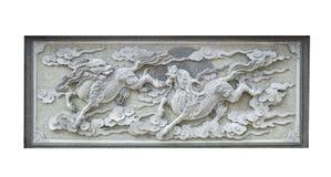 Kamiennego cyzelowania zwierzęcy chińczyk Qilin odizolowywał Obraz Royalty Free